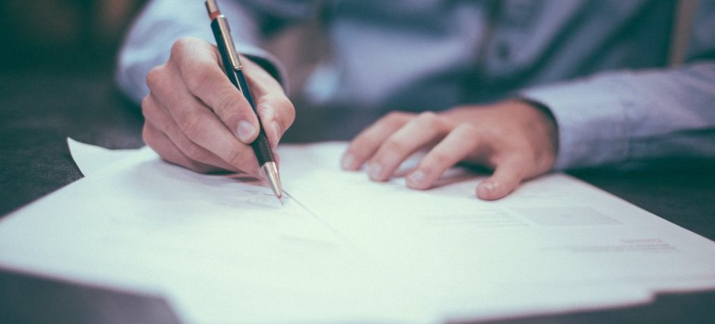 man reviewing probate papers